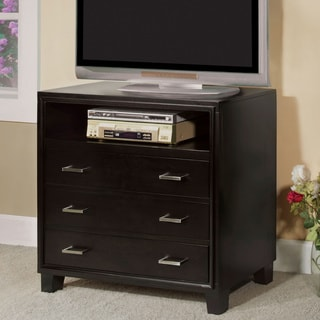 Furniture of America Elrich Modern Espresso 3-Drawer Media Chest