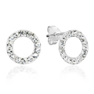 Handmade 10mm Circle White CZ .925 Sterling Silver Earrings (Thailand)|https://ak1.ostkcdn.com/images/products/9407344/P16595290.jpg?_ostk_perf_=percv&impolicy=medium