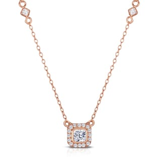 Collette Z Rose Goldplated Sterling Silver Cubic Zirconia Classic Necklace