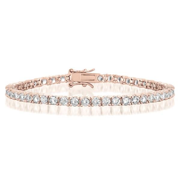 Collette Z Rose Goldplated Sterling Silver Cubic Zirconia Tennis Bracelet