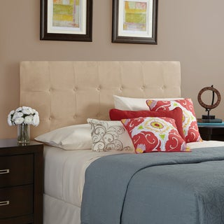 Humble + Haute Stratton Velvet Sand Queen Tufted Upholstered Headboard