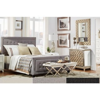 INSPIRE Q Bellevista Square Button-tufted Upholstered Full-Size Bed with Footboard