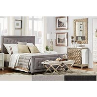 Bellevista Square Button-tufted Upholstered Platform Bed with Footboard by iNSPIRE Q Bold