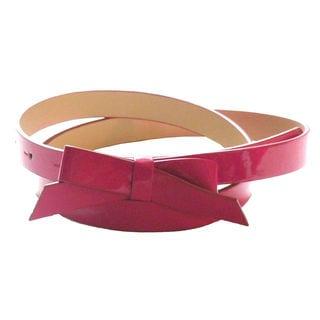 Patent Leather Skinny Bow Belt