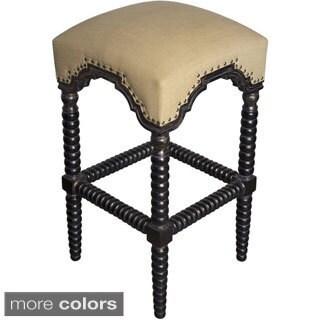 Ridged Leg Upholstered Bar Stool