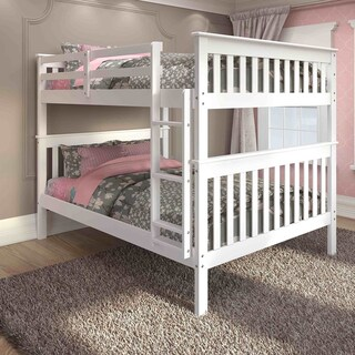 Donco Kids Mission Full Bunk Bed and Optional Storage Drawers or Twin Trundle (3 options available)