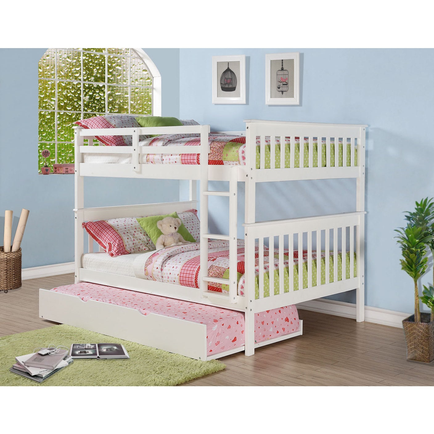 Donco Kids Mission Full Bunk Bed and Optional Storage Dra...