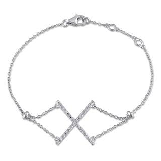 Miadora Sterling Silver 1/10ct TDW Diamond Bracelet
