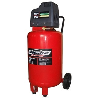 Speedway 20-gallon Vertical Air Compressor with Oil Free Pump