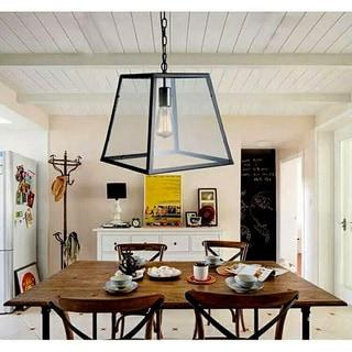 Minerva 1-light Black Edison Lamp with Bulb