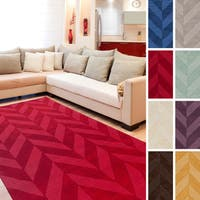 Porch & Den Alpine Hand-woven Tone-on-tone Zig-Zag Wool Area Rug - 6' x 9'