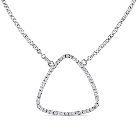 Miadora Sterling Silver Cubic Zirconia Necklace