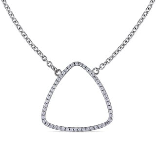 M by Miadora Sterling Silver Cubic Zirconia Necklace