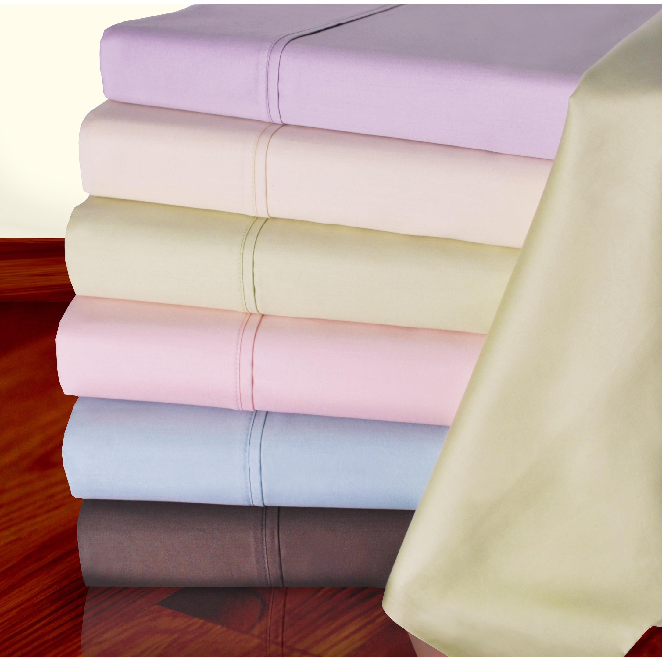 Superior 450 Thread Count Deep Pocket Cotton Sateen Sheet...