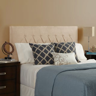 Humble + Haute Halifax Velvet Sand Full Diamond Tufted Upholstered Headboard