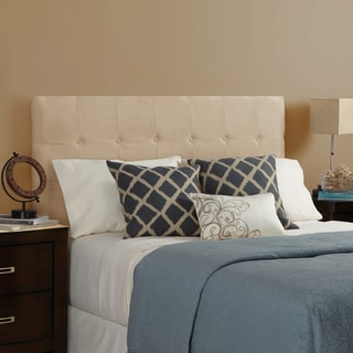 Humble + Haute Stratton Velvet Sand Full Tufted Upholstered Headboard