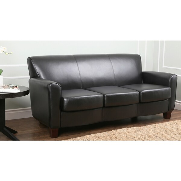 abbyson living easton black leather sofa black leather sofa