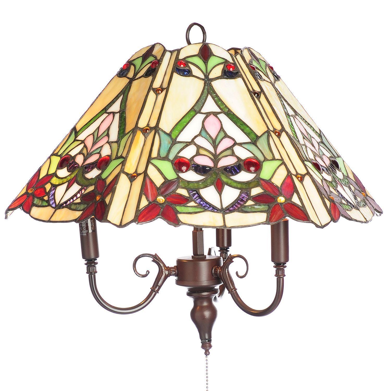 Warehouse of Tiffany Tiffany-style Ramona 3-light Hanging...