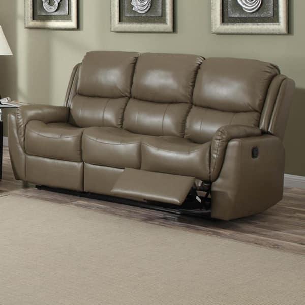 Aldo Bonded Leather Reclining Sofa