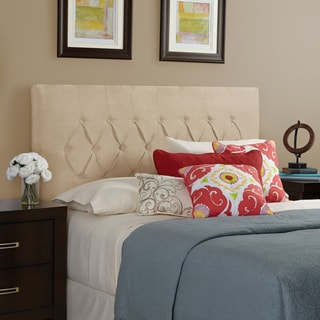 Humble + Haute Halifax Velvet Sand Queen Diamond Tufted Upholstered Headboard