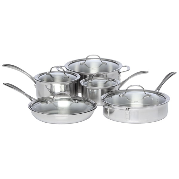 Shop Calphalon Tri Ply Stainless Steel 10 Piece Cookware