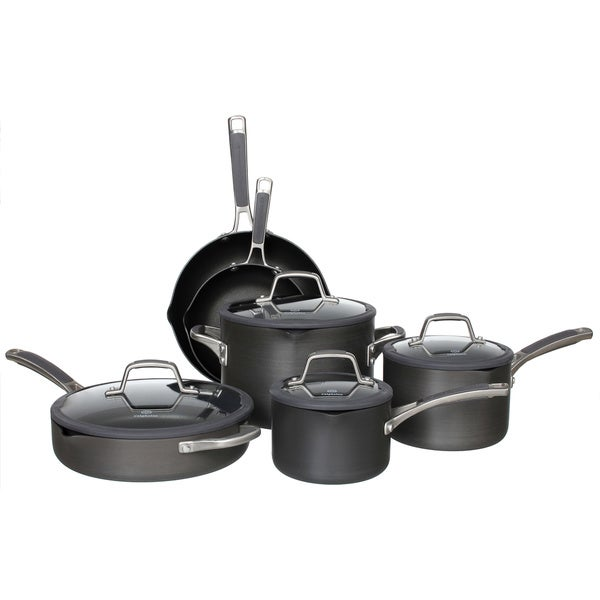 simply calphalon easy system 10piece cookware set - Calphalon Cookware Set