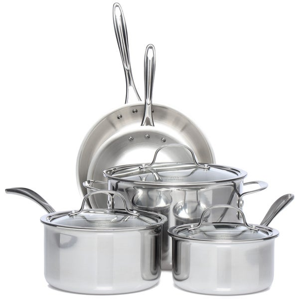 Shop Calphalon Tri Ply Stainless Steel 8 Piece Cookware