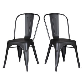 Norman Vintage 18-inch Seat Metal Dining Chair (Set of 2)