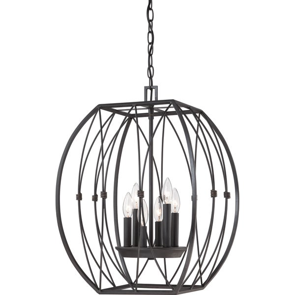 quoizel regina imperial bronze 6 light cage chandelier. Black Bedroom Furniture Sets. Home Design Ideas