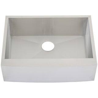 Ticor 4410BG 30-inch 16-gauge Stainless Steel Single Bowl Curved Front Undermount Farmhouse Apron Kitchen Sink