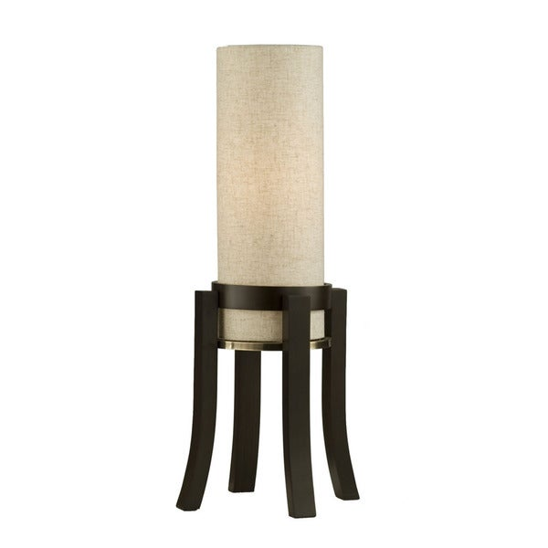 Nova Lighting Trenton 1-light Brown Wood Table Lamp