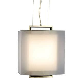 Nova Lighting Amarillo Silvertone Large Pendant