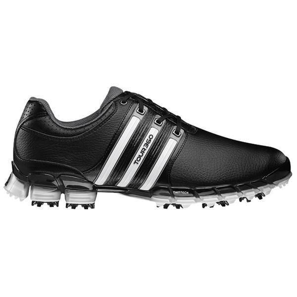 66853bb3fdb4c2 Shop Adidas Men s Black  White Tour 360 ATV M1 Golf Shoe - Free ...