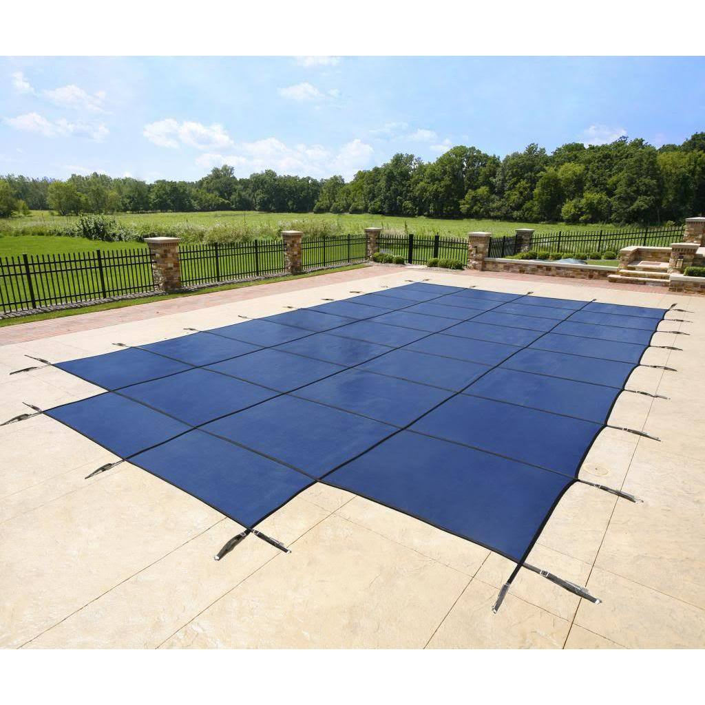 Blue Wave Rectangular Blue In-ground Pool Safety Cover wi...