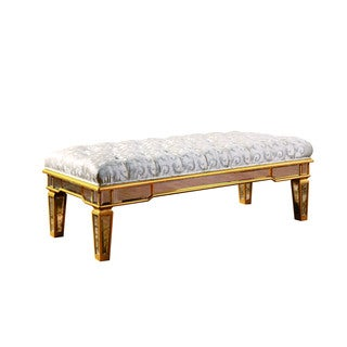 Somette Florentine Goldtone and Clear Mirrored 48 x 20-inch Bench