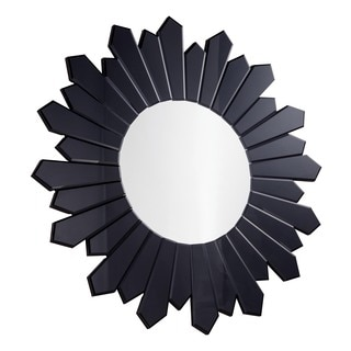 Somette Black Starburst Round Mirror