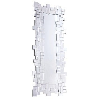 Somette Modern Clear Geometric Squares Mirror