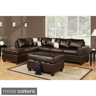Leather Sectional Sofas Shop The Best Deals for Nov 2017 Overstock