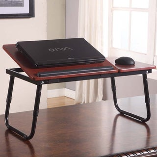 Cherry Finish Laptop Table Stand