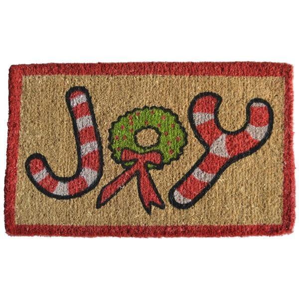 Christmas Joy Coir Doormat