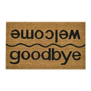 Link to Welcome/ Goodbye Natural Coir Doormat Similar Items in Decorative Accessories