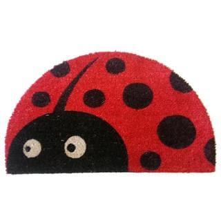 Half-round Lady Bug Doormat