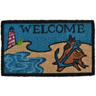 Beach Lighthouse Coir Doormat