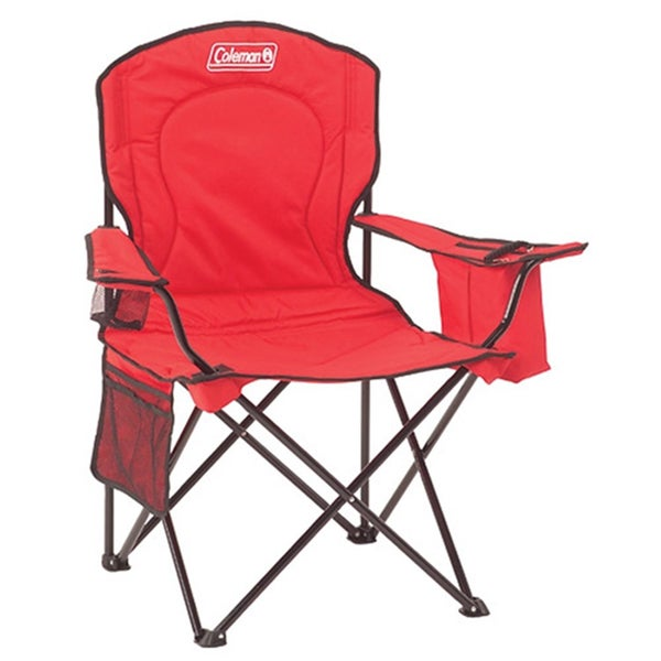 Coleman Red Cooler Quad Chair