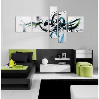 Hand-painted 'Light Spirit' 5-piece Gallery-wrapped Canvas Art Set