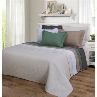 Superior Corrington Floral Checkered Cotton Quilt Set (Option: White)