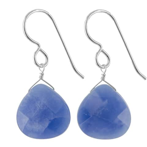 Kyanite Gemstone Handmade Silver Earrings