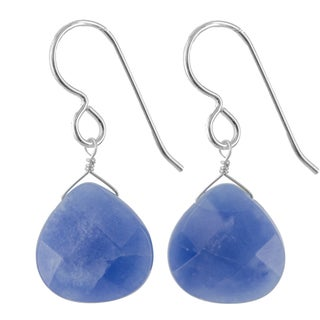 Ashanti Sterling Silver Kyanite Gemstone Handmade Earrings (Sri Lanka)