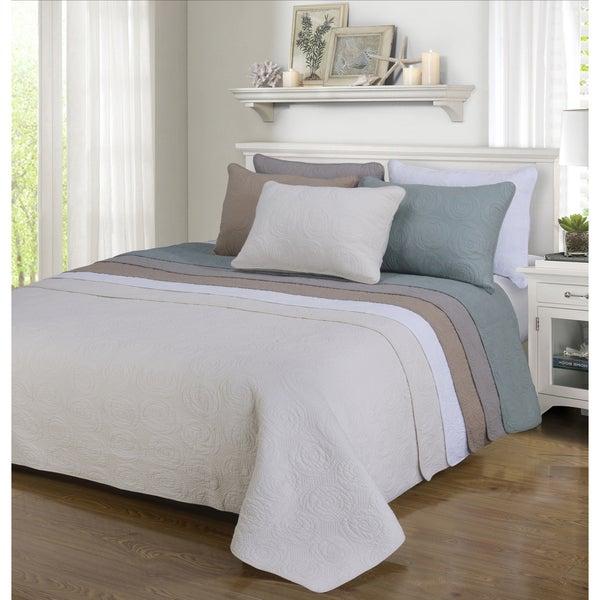 Superior Channing Floral Reversible Cotton Quilt Set