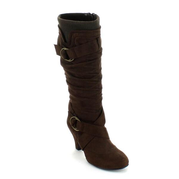 how to wear over the knee kitten heel boots